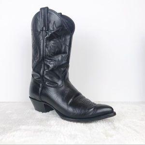 J. Chisholm Black Cowboy Boots 8.5